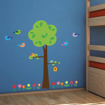 Wallstickers XL Tree with flowers