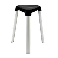 Sgabello Trix in alluminio - 3 gambe nero