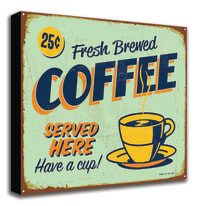 quadro su tela Coffee blu 60x60
