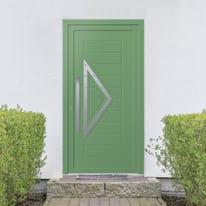 portoncino d'ingresso alluminio Modern3 verde L 90 x H 210 dx