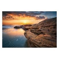 quadro su tela Sunset on the cliff 90x135