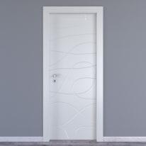 Porta da interno battente Wind white bianco 60 x H 210 cm dx