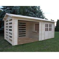 casetta in legno grezzo Berlin 5,17 m², spessore 28 mm