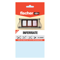 6 kit di fissaggio Fischer Inferriate ø 10 x 80  mm con vite