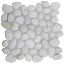 Mosaico Maxisasso 30 x 30 cm bianco