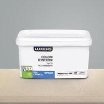 Idropittura lavabile Mano unica Grigio Fumo 5 - 2,5 L Luxens