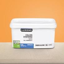 Idropittura lavabile Mano unica Arancio Tangerine 3 - 2,5 L Luxens