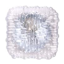 Plafoniera Quadra trasparente L 17 x H 17 cm