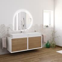 Mobile bagno Bellagio rovere L 141 cm