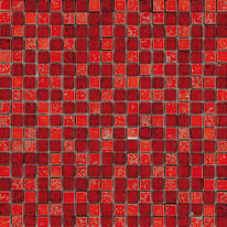 Mosaico Crystal 30 x 30 cm rosso