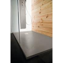 Piatto doccia resina Pizarra 100 x 120 cm cemento