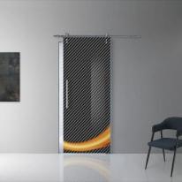 Porta da interno scorrevole Grafic 1/binario Ermes 88 x H 215 cm dx