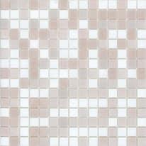 Mosaico Cipria 32,7 x 32,7 cm bianco, rosa
