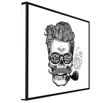 quadro su tela Hipster Skull 65x65