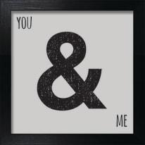 Stampa incorniciata You & me 30 x 30 cm