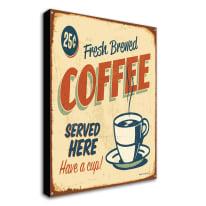quadro su tela Coffee beige 24x35