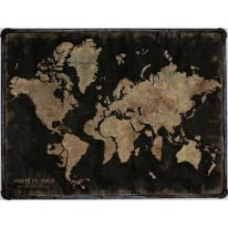 Quadro su tela con cornice World black 80x60