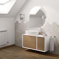 Mobile bagno Devon rovere L 105 cm