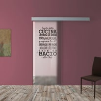 Porta da interno scorrevole Regole Cucina 88 x H 215 cm dx