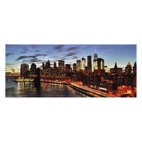 Quadro in vetro New York 125x50