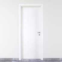 Porta da interno battente Pvc white bianco 60 x H 210 cm sx