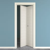 Porta da interno pieghevole Touch bianco matrix 70 x H 210 cm dx