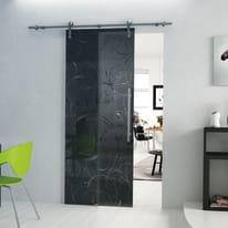 Porta da interno scorrevole Rose Fumè/binario Lux 86 x H 215 cm sx