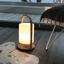 Lampada da tavolo Woody LED integrato