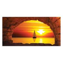 quadro su tela Finestra sul mare 80x180