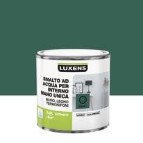 Smalto manounica Luxens all'acqua Verde Esotico 1 satinato 0.5 L