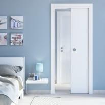 Porta da interno battente Renoir bianco venato 80 x H 210 cm reversibile