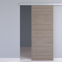 Porta da interno scorrevole One gray cenere 90 x H 210 cm reversibile