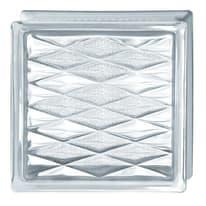 Vetromattone trasparente rete 19 x 19 x 8 cm