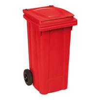 Bidone Carrellato rosso satinato 120 L