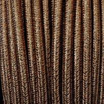 Cavo tessile marrone