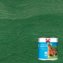 Impregnante ad acqua 6 anni V33 Acqua-Gel verde cerata 0,75 L