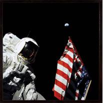 Stampa incorniciata Apollo 17-1972 50 x 50 cm
