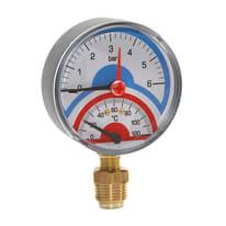 Termomanometro attacco radiale Ø 80 mm