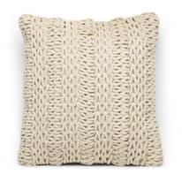 Cuscino Cordy ecru 40 x 40 cm