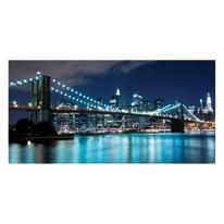 quadro su tela Blu lights 190x90