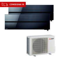 Climatizzatore fisso inverter dualsplit Mitsubishi LN 9000 + 9000 BTU classe A+++ nero