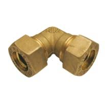 Raccordo a gomito a stringere per tubi rame 18 mm x 18 mm