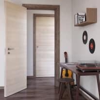 Porta da interno battente Mixage brown grano 80 x H 210 cm reversibile