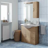 Mobile bagno Blanca rovere L 85 cm