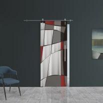 Porta da interno scorrevole Carpet 6/binario Ermes 88 x H 215 cm sx