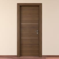 Porta da interno battente Tussauds cacao 90 x H 210 cm sx