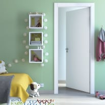 Porta da interno battente Cream bianco 80 x H 210 cm reversibile