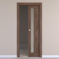 Porta da interno scorrevole Gash tabacco 60 x H 210 cm reversibile
