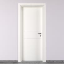 Porta da interno battente Two Lines bianco 60 x H 210 cm sx