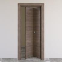 Porta da interno pieghevole Stylish grigio 80 x H 210 cm dx